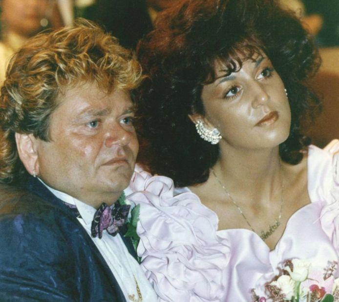 André Hazes senior en Rachel tijdens hun huwelijk.