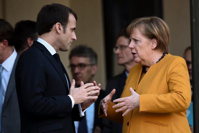 Emmanuel Macron et Angela Merkel à Paris en février 2019.