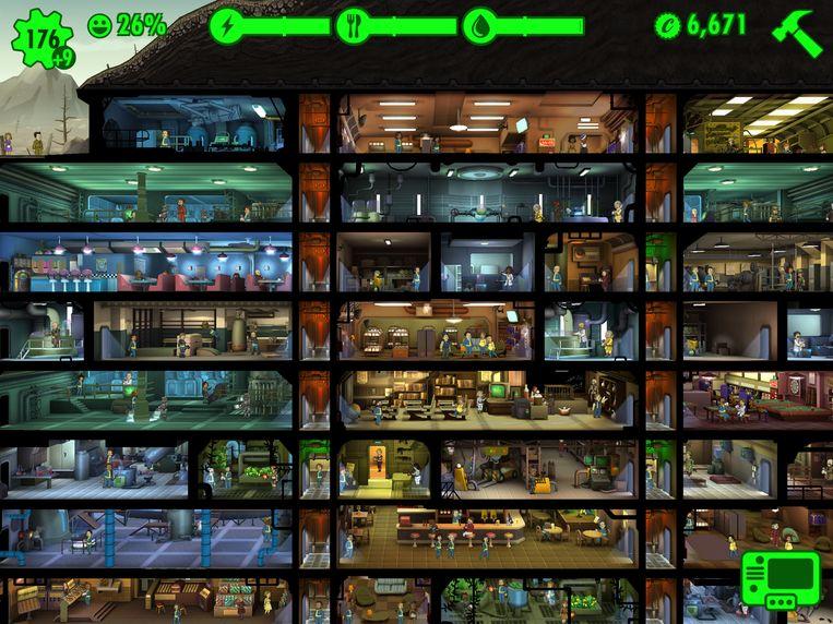 Ook het eenvoudige 'Fallout Shelter' is gemaakt met Unity. Beeld Bethesda