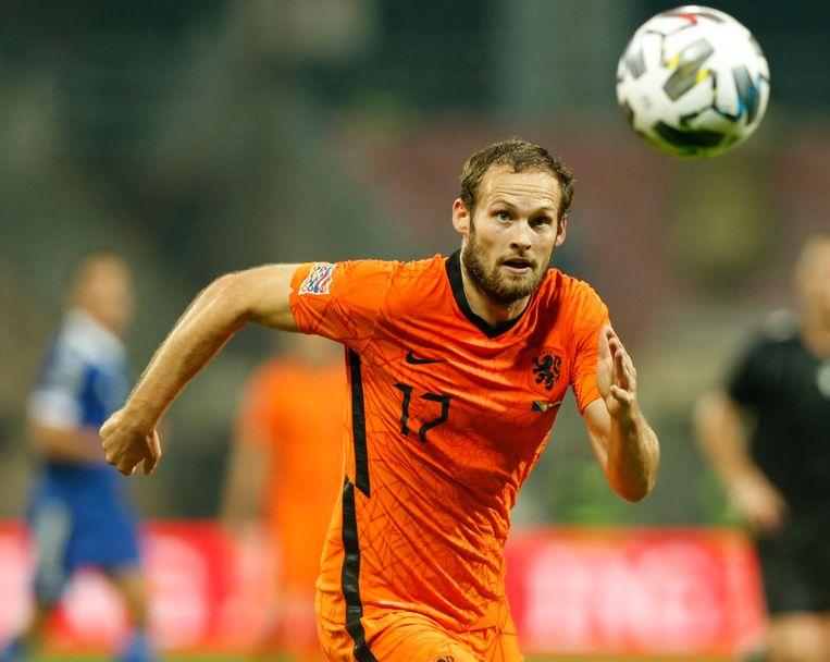 Oranje (hier in de persoon van Daley Blind) heeft maandag gehoord tegen welke landen het moet uitkomen in de WK-kwalificatie. Beeld NurPhoto via Getty Images