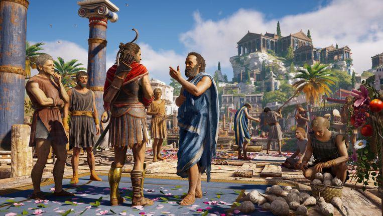 De nieuwste 'Assassin's Creed' neemt je mee naar het woelige oude Griekenland. Beeld rv