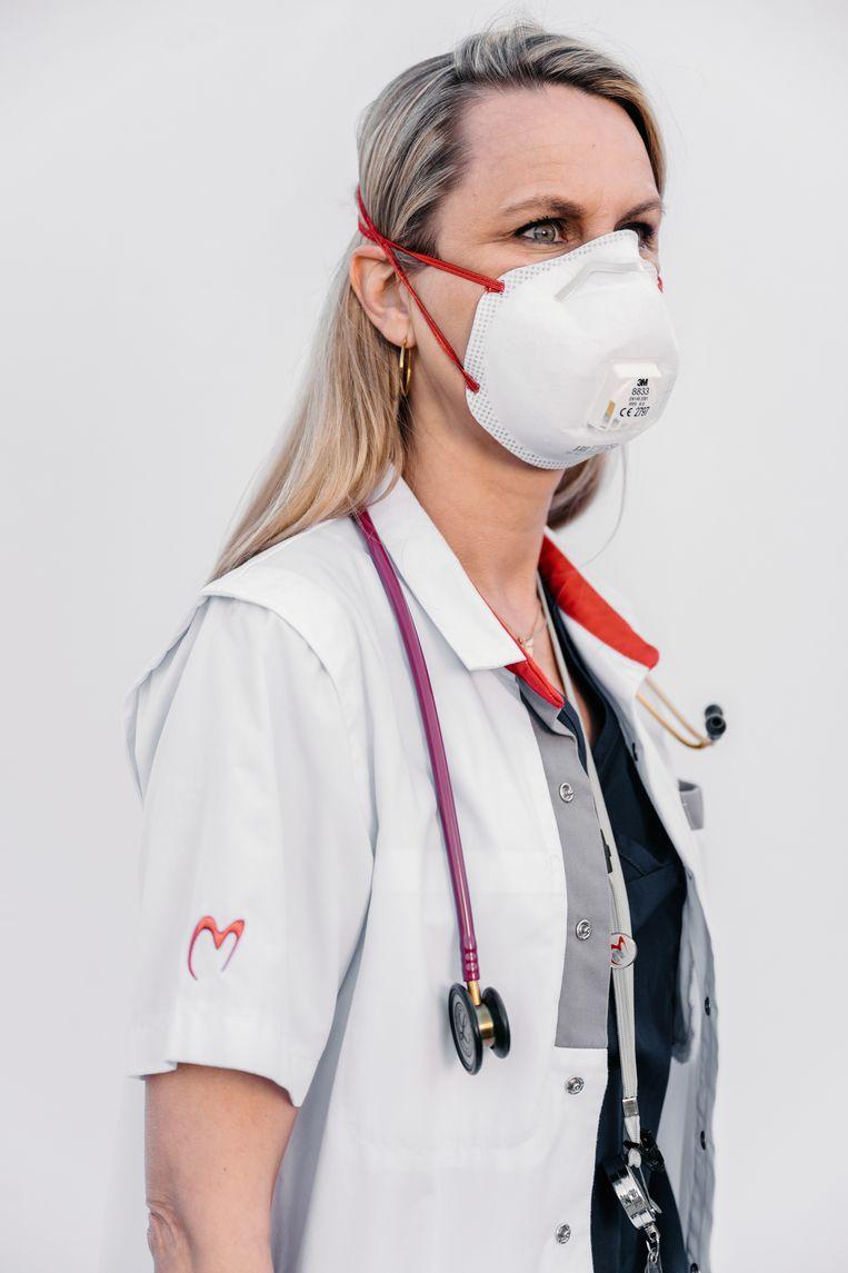 Dokter Goeminne, pneumoloog in het AZ Alma Eeklo. Beeld Damon De Backer