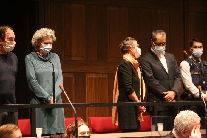 Hilde Van Acker en Jean-Claude Lacote in maart van dit jaar bij het aanhoren van het arrest in het Brugse assisenhof