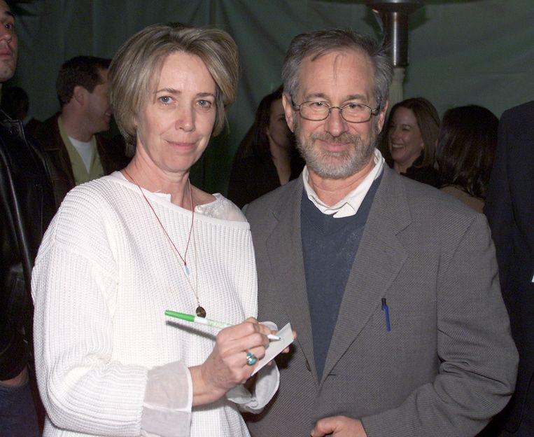 Melissa Mathison and Steven Spielberg bij de 20ste verjaardag van E.T. the Extra Terrestial' Beeld getty