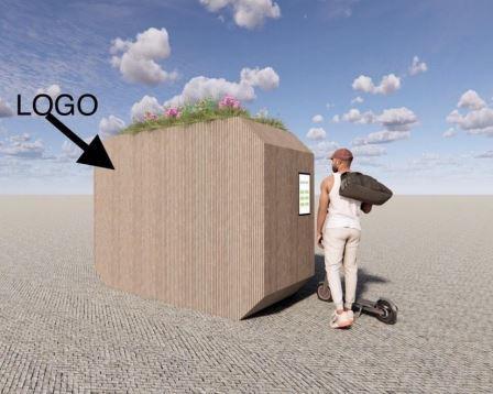 Het is ook mogelijk om bloembakken te plaatsen op de stepcube.
