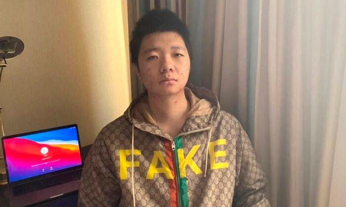 Wang Jingyu op een onbekende locatie.