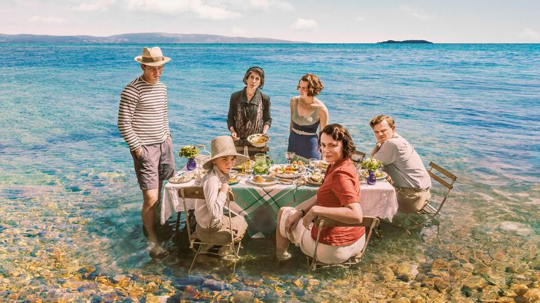 The Durrels op Corfu.  Beeld