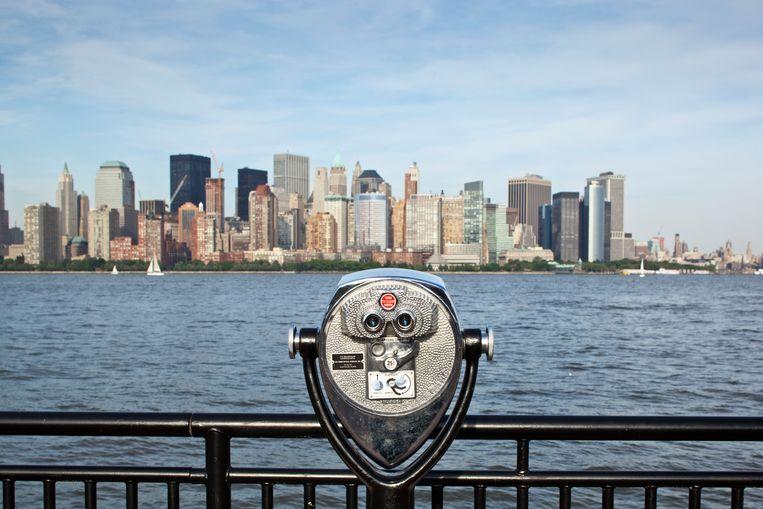 De Manhattan skyline vanuit Jersey City, New Jersey. Beeld © Paul Souders/WorldFoto, 6836 16th Ave NE, Sea/Corbis