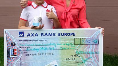 Kristel en Maylin schenken 2.132 euro aan mugheli
