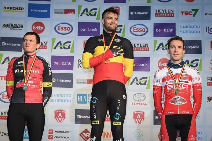Wietse Bosmans werd Belgisch kampioen bij de elite zonder contract.