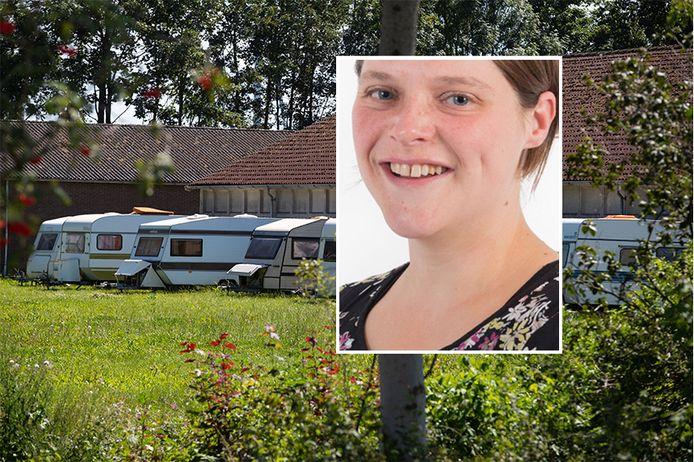 Brenda Berghorst ligt onder vuur vanwege de illegale huisvesting van arbeidsmigranten in caravans in een schuur.