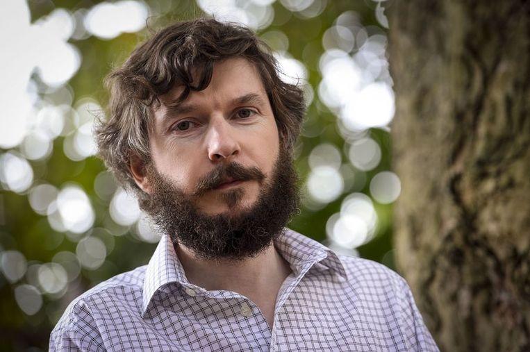 De Belgische schrijver en leraar Pierre Piccinin nadat hij is vrijgelaten uit Syrië. Beeld null