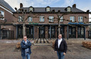 Frank Boekelder en Jan Wijn voor brasserie De Keizer in Gemert dat ze nieuw leven willen gaan inblazen.