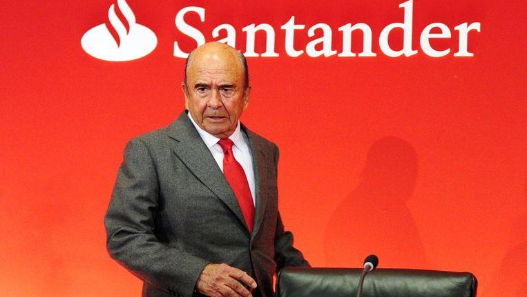 Emilio Botin, voorzitter van de Spaanse bank Santander. Beeld AFP