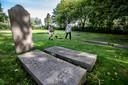 In augustus deed de TU delft bodemonderzoek op de Joodse begraafplaats.
