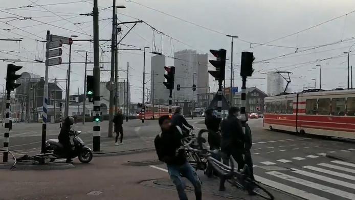 Ook in Den Haag waaide het hard