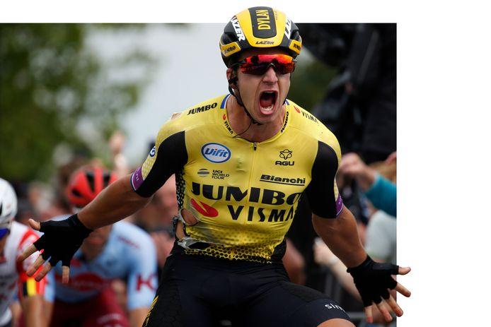 Dylan Groenewegen won vorig jaar de etappe naar Heinkenszand.