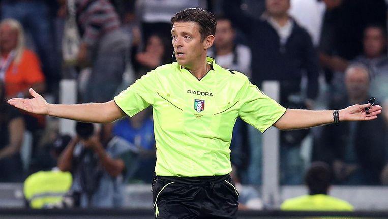 Gianluca Rocchi floot Ajax eerder al tijdens Europese duels met Manchester United en Anderlecht. Beeld anp