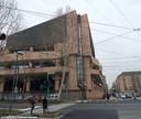 De rechtbank in Turijn waar de verdachte van de verkrachting moest voorkomen.