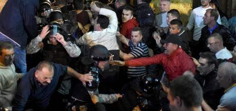 Vechtpartij parlement Macedonië: honderd gewonden