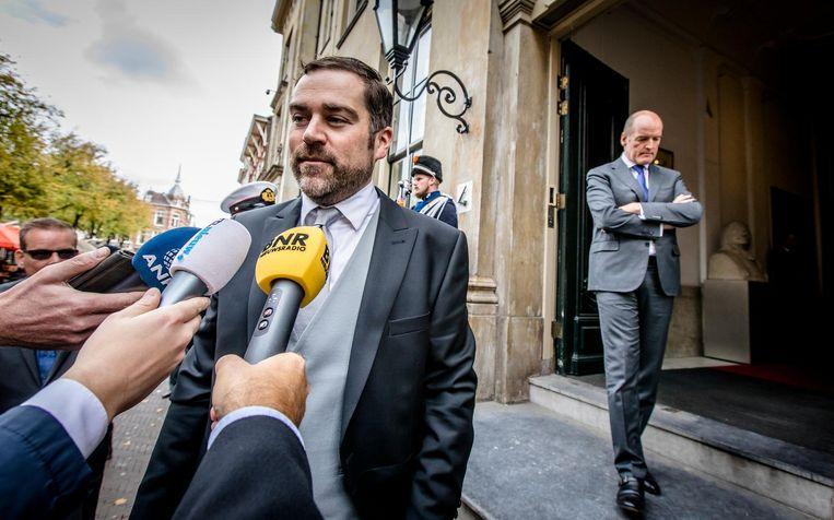 De volgende dag betreedt opvolger Klaas Dijkhoff het ministerie. Beeld ANP