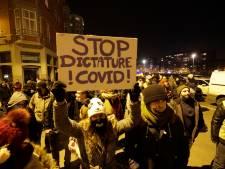 Des centaines de manifestants réunis contre le couvre-feu à Liège: sept blessés et de multiples arrestations