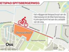 Vrijliggend pad moet fietsers veilig langs Oijense Zij Noord in Oss leiden