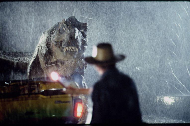Beeld uit Jurassic Park. Beeld Sygma via Getty Images