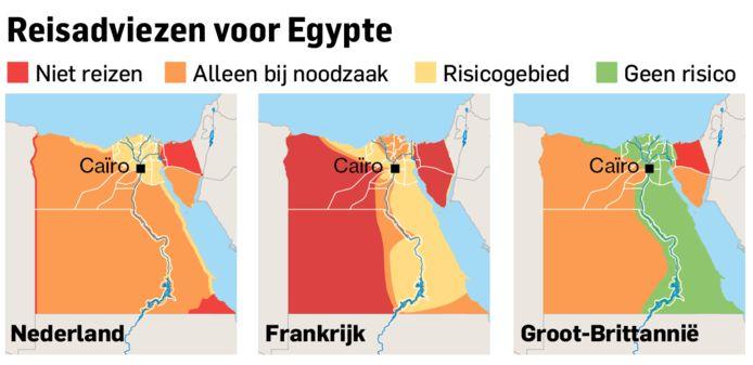 Drie reisadviezen voor Egypte vergeleken.