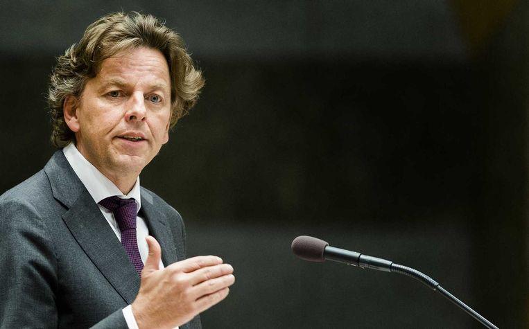 Minister Bert Koenders van Buitenlandse Zaken tijdens het vragenuur in de Tweede Kamer vandaag. Beeld anp