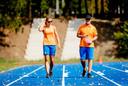 Dafne Schippers met Rana Reider, de Amerikaanse sprintcoach met wie ze in 2017 en 208 samenwerkte.