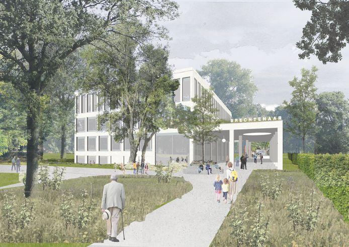 Het nieuwe administratief centrum van Brecht komt in het Gemeentepark. Het huidige Jan van der Noot wordt ervoor grondig verbouwd.