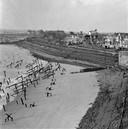 Duitse stellingen op het Badstrand aan het eind van de oorlog.