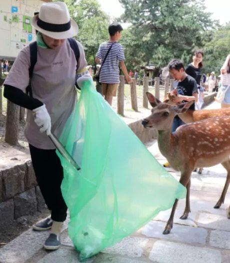 Un parc japonais veut utiliser des sacs comestibles pour protéger des centaines de cerfs qui y vivent