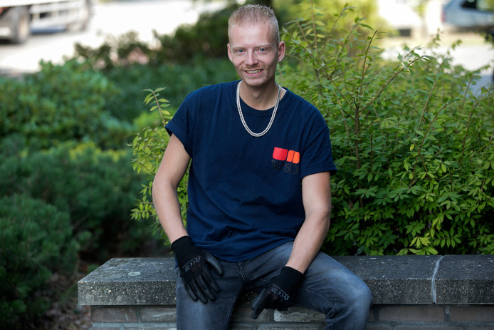 Edwin Nagtegaal werkt er hard aan om de stap naar de reguliere arbeidsmarkt te kunnen zetten.