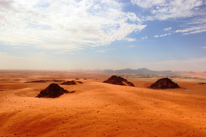 Grote delen van wat nu woestijn is, werd vroeger bedekt met drassig en vruchtbaar land. Voor echte waterdieren als nijlpaarden was het goed toeven.