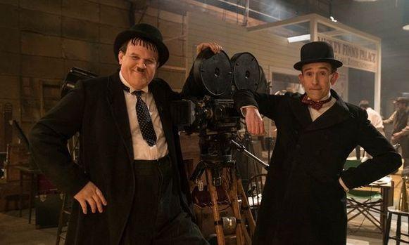 Een still uit de film 'Stan & Ollie'.