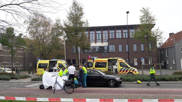 Op de Raadhuisstraat in Doetinchem werd de fietsster geschept.