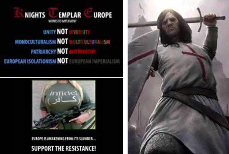 Beelden uit het YouTube-filmpje van Breivik. Beeld null
