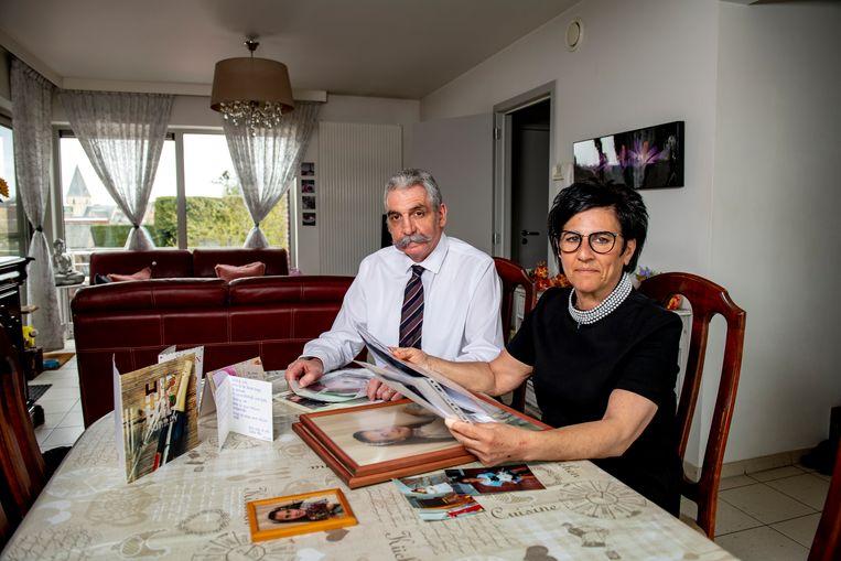 Ouders Johan Castermans en Sheila Asunis blijven verweesd achter na de dood van hun dochter. Beeld Photo News