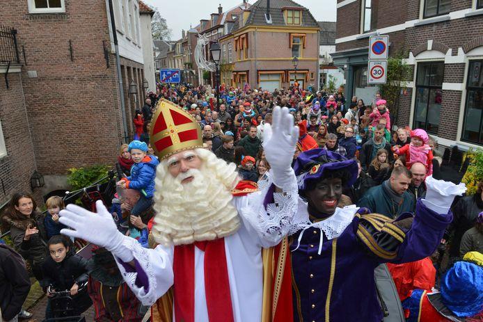 Sinterklaas en zijn pieten in Culemborg.