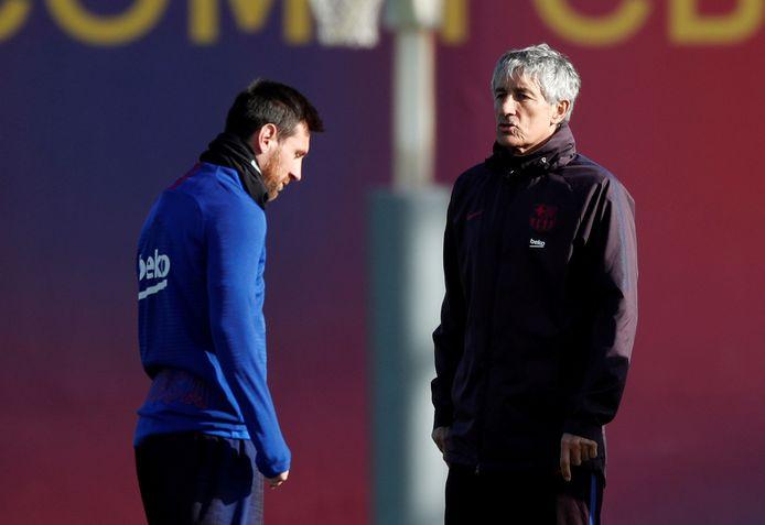 Messi en Setién.
