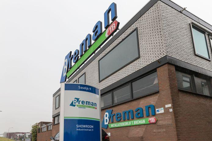 Het pand van Breman TB in Genemuiden.