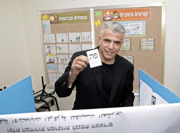 Yair Lapid van de partij Yesh Atid. Beeld reuters