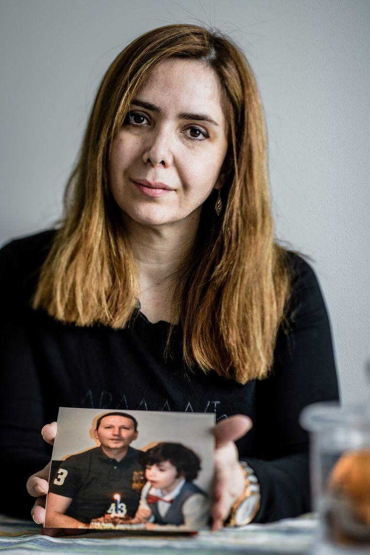 Stockholm, Sweden 2018-03-10Vida Mehrania's husband received a death sentence in Iran.Humo. VUB, Vida Mehrannia, Marc Femenia, Ahmadreza Djalali, Humo, 2018 Beeld Marc Femenia/Humo
