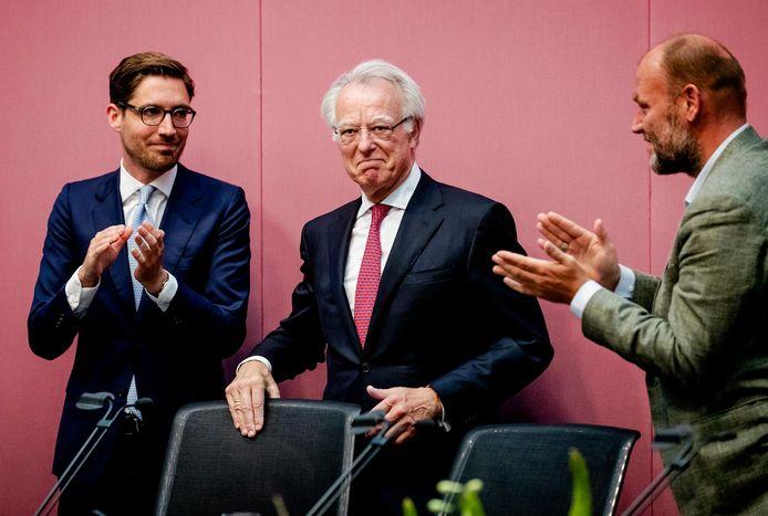 Jozias van Aartsen als waarnemend burgermeester tijdens de buitengewone raadsvergadering waarin Femke Halsema door Commissaris van de Koning Johan Remkes werd beëdigd als burgemeester van Amsterdam.