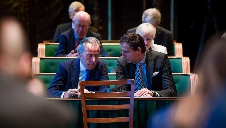 De CDA-fractie tijdens het debat over de goedkeuring Associatieovereenkomst met Oekraïne in de Eerste Kamer Beeld Freek van den Bergh / de Volkskrant