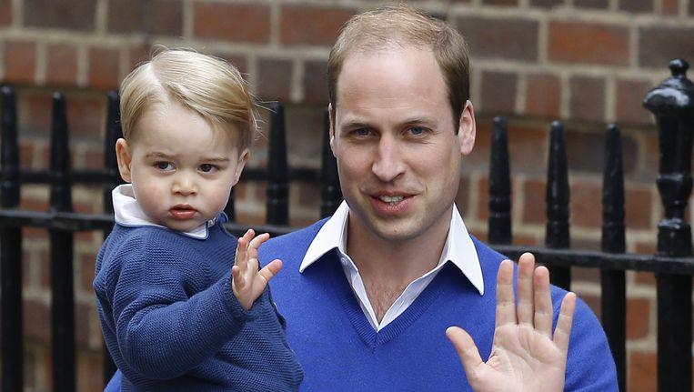 Prins George met zijn vader, de hertog van Cambridge.