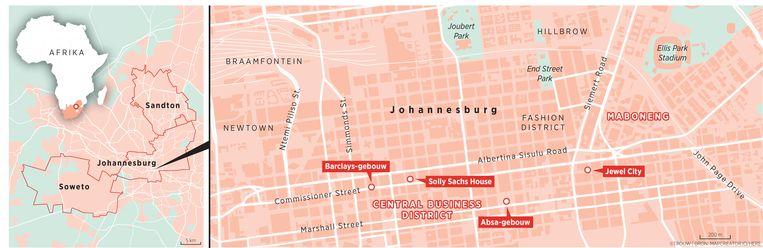 Het centrum van Johannesburg. Beeld Louman & Friso