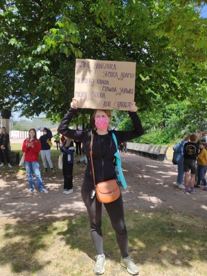 Zo'n 250 actievoerders zakten af naar het Zuidpark